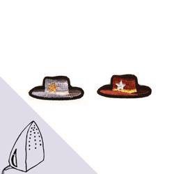 [Macon&Lesquoy] 마콩 자수패치_카우보이 모자