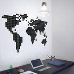 데코스티커 (세계지도)