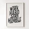 Work hard stay humble 타이포그래피 [북유럽 포스터 액자세트 아트프레임 카페 신혼 소품]