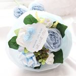 리틀엔젤 블루 스몰 아기옷부케(배넷저고리+손싸개+발싸개+미니타올)