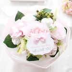 리틀엔젤 핑크 스페셜 아기옷부케(배넷저고리+수면조끼+턱받이+손싸개+발싸개+미니타올)