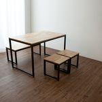 ASH IRON 1200 TABLE SET