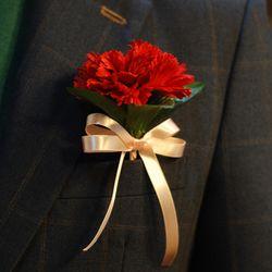 감사한 마음을 담아... 카네이션 한송이+꽃카드