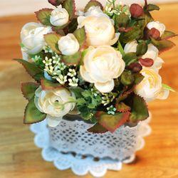 lovely lace flowerpot