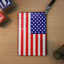 (new) Vintage card case (The Stars and Stripes)