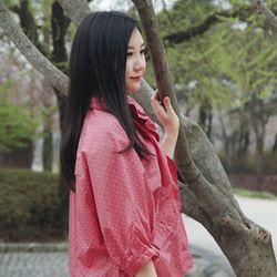 큐티가오리 레인코트 핑크
