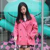 하프 레인코트 핑크