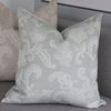 Shabby embroidery cushion size 60x60 blue color