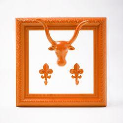 모던엔틱 프레임 후크 네온 오렌지 Modern antique frame hook Neon orange