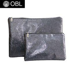 OBL glittering purple gray clutch bag-글리터링 퍼플 그레이 클러치백(M)