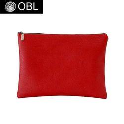 OBL simple leather red clutch bag-심플 레더 레드 클러치백