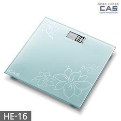 카스(CAS) 플라워 디자인 디지털 체중계 HE-16
