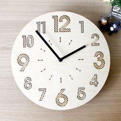 자작나무 우드벽시계 1시