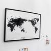 WORLD MAP ver.black-white