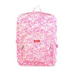 [bakker] 캔버스 백팩_L_jouy neon pink