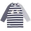 SECOND CORNER marine-navy stripe