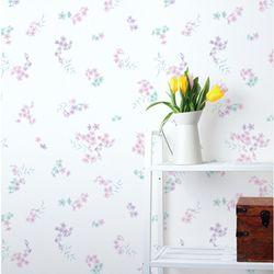 꽃무늬시트지(HWP-21622) 꽃의향연 핑크-(폭)100cm
