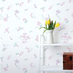 꽃무늬시트지(HWP-21622) 꽃의향연 핑크-(폭)50cm