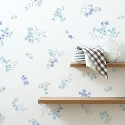 꽃무늬시트지(HWP-21621) 꽃의향연 블루-(폭)100cm