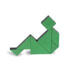 [PICO PAO] TANGRAM 3D (Green)