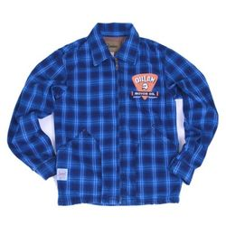 OILLAM CHECK DENIM JACKET (Navy check)