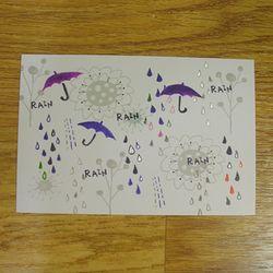 펀사 패턴엽서 - 빗방울