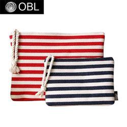 OBL stripe clutch bag-스트라이프 클러치백(L)