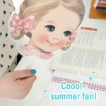 paper doll mate coool summer fan Sally