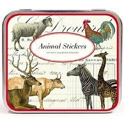 Cavallini 스티커 틴세트-Animals