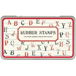 Cavallini 스탬프세트-Rubber Stamps (대문자)