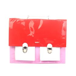 [bakker] 레인보우 사첼백_M_red white pink