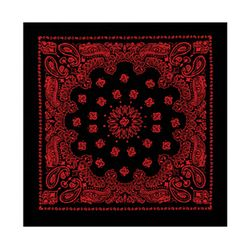 22inch bandana black+red