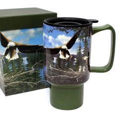 세라믹 트래블머그-Spring bard eagles (LMCT - 4)