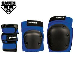 [SMITH] ADULT 3-PACK SAFETY GEAR SET (Blue)