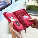 트래블러스 폴더 ver.4-여권 지폐 동전을 함께 수납하는 여행지갑
