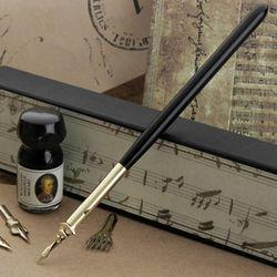 루비나또 우드펜+닙4(5선포함)+잉크 - RU 4082MU
