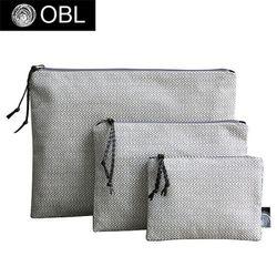 OBL 크로스헤링본 클러치백(L)