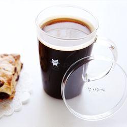 커피파워 뚜껑유리컵