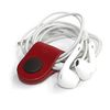 LEATHER CABLE HOLDER (RED)