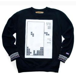 Block game sweat shirt-2(black)