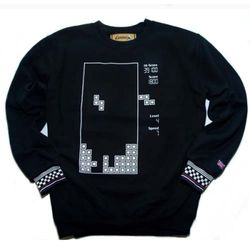 Block game sweat shirt-1(black)