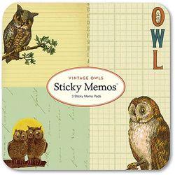 Cavallini 접착식메모패드-Vintage Owls