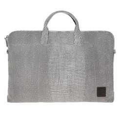 yoda jacquard leather briefcase A - white