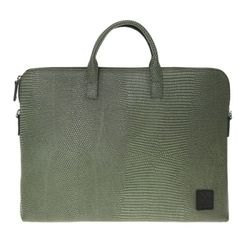 yoda jacquard leather briefcase A - green