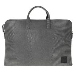 yoda jacquard leather briefcase A - grey