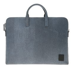 yoda jacquard leather briefcase A - blue