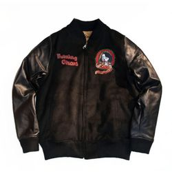 Burning circus varsity jacket
