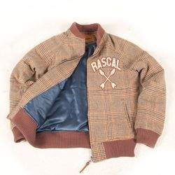 RASCAL TEAM WOOL JACKET (RED BEAN)