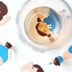 컵의 소코코 컵받침 (랜덤)
