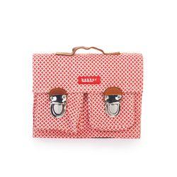 [bakker] Canvas & leather Satchel_mini_Tre/rouge